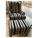 425 - BROYHILL ARM CHAIR W/MATCHING OTTOMAN