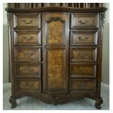 100 - LARGE 5FT ARMOIRE WITH 10 DRAWERS