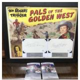 N - ROY ROGERS, DALE EVANS FRAMED PALS OF THE