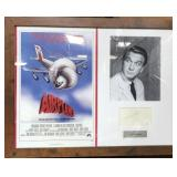 N - FRAMED AIRPLANE LESLIE NEILSON  AUTOGRAPHED