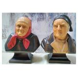 N - MADE IN SWITZERLAND CERAMIC BUSTS