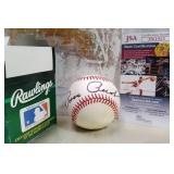 N - AUTOGRAPHED BASEBALL WITH JSA