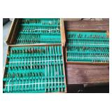 378 - HUGE WOODEN BOX FULL OF THIALAND FLATWARE