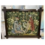45 - ANTIQUE FRAMED TAPESTRY -SEE PICS FOR DETAILS