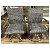 C - PAIR OF SWIVELING PATIO CHAIRS