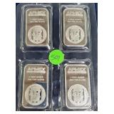(507) LOT OF (4 1.0oz SILVER BARS