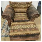 11 - LOVELY ARM CHAIR & MATCHING OTTOMAN