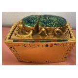 807 - EGYPTIAN STYLE TRINKET BOX W/SCARAB
