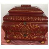 807 - ORNATE ASIAN JEWELRY BOX