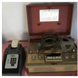 807 - VINTAGE VOICE RECORDER & ADDING MACHINE