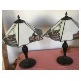 807 - PAIR OF TIFFANY STYLE TABLE LAMPS