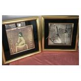 807 - PAIR OF FRAMED EGYPTIAN GODDESS ART