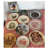 807 - MIXED LOT COLLECTOR PLATES & FRAMED HORSE HE