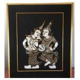 807 - FRAMED THAI DANCERS ART
