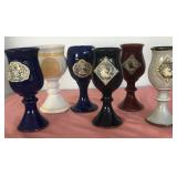 807 - LOT OF 6 COLLECTOR GOBLETS