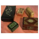 807 - BEAUTIFUL WOOD JEWELRY & TRINKET BOXES
