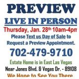LIVE PREVIEW - THURSDAY 1/28/21 9:00am to 4:00pm