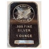 1OZ .999 FINE SILVER BAR (P11)