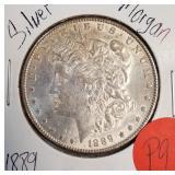 1889 - MORGAN SILVER DOLLAR (P9)