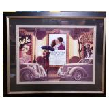 """11 - FRAMED """"GONE WITH THE WIND"""" MOVIE POSTER"""