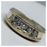 14KT WHITE GOLD 1.10CTS MENS DIAMOND RING