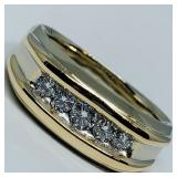 14KT WHITE GOLD .58CTS DIAMOND RING