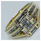 14KT YELLOW GOLD .62CTS DIAMOND RING