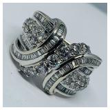 10KT WHITE GOLD 1.80CTS DIAMOND RING