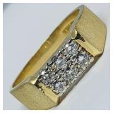 14KT YELLOW GOLD .90CTS DIAMOND RING