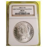 (BB) - 1885 SILVER DOLLAR:GREAT MONTANA COLLECTION