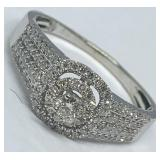 14KT WHITE GOLD .84CTS DIAMOND RING