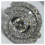 14KT WHITE GOLD 1.46CTS DIAMOND RING FEATURES