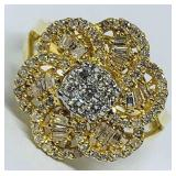 14KT YELLOW GOLD .72CTS DIAMOND RING