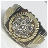 14KT TWO TONE 1.05CTS ROLEX STYLE DIAMOND