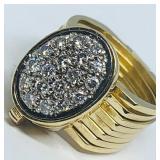 14KT YELLOW GOLD  DIAMOND RING/BRACLET