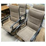 714 - SET OF 4 PATIO CHAIRS