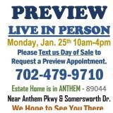 LIVE PREVIEW MONDAY BY APPOINTMENT ONLY