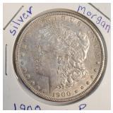 "1900 ""P"" - MORGAN SILVER DOLLAR (13)"