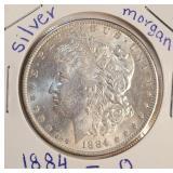 """1884 """"O"""" - MORGAN SILVER DOLLAR (16)"""