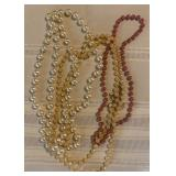 808 - LOT OF 3 COSTUME JEWELRY NECKLACES