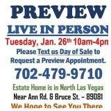 LIVE PREVIEW TUESDAY BY APPOINTMENT ONLY