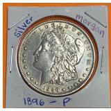 "1896 ""P"" - MORGAN SILVER DOLLAR"