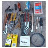 850 - LOT OF WRENCHES, PLIERS & MORE