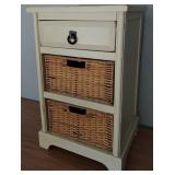 850 - CUTE ACCENT TABLE WITH BASKET STORAGE