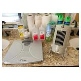 850 - CLEANING SUPPLIES, SCALE & FAN
