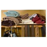 850 - LOT OF BATHROOM TOWELS, SHIRTS & PANTS
