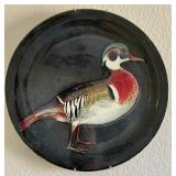 850 - PACIFIC HAND PAINTED COLLECTIBLE DUCK PLATE