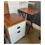 850 - TV TRAY, 2 DRAWER FILING CABINET