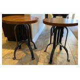 850 - PAIR OF CUTE ART DECO ACCENT TABLES