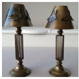 831 - PAIR OF MATCHING BUTTERFLY SHADE TABLE LAMPS